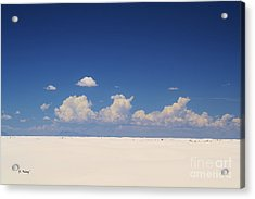 Summer At White Sands National Monument Acrylic Print by Roena King
