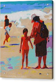 Summer Beach Play Acrylic Print by Thomas Bertram POOLE