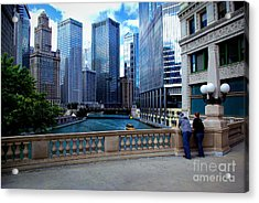Summer Breeze On The Chicago River - Color Acrylic Print
