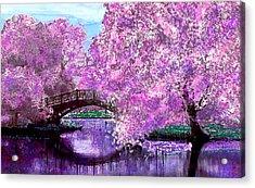 Summer Bridge Acrylic Print by Michele Avanti