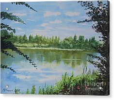 Summer By The River Acrylic Print by Martin Howard