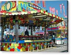 Summer Carnival Festival Fun Fair Shooting Gallery - Carnival State Fair Stands Acrylic Print