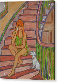 Summer Chat Acrylic Print by Xueling Zou