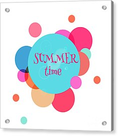Summer Colorful Background With Text - Acrylic Print by Vector art