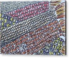 Summer Corn Acrylic Print by Kathy Marrs Chandler