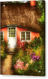 Summer - Cottage - Little Pink Play House Acrylic Print by Mike Savad