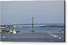 Summer Day On Halifax Harbour Acrylic Print by George Cousins