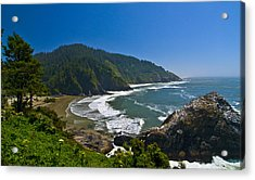 Summer Day On The Oregon Coast Acrylic Print