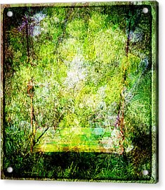 Acrylic Print featuring the mixed media Summer Days Of Yore #1 by Sandy MacGowan