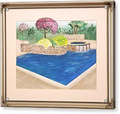 Acrylic Print featuring the painting Summer Days by Ron Davidson