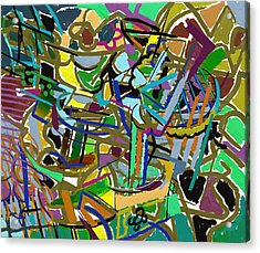 Acrylic Print featuring the digital art Summer Divertimento In Green by Clyde Semler
