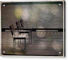 Summer Dock Waterfront Fine Art Photograph Acrylic Print by Laura Carter