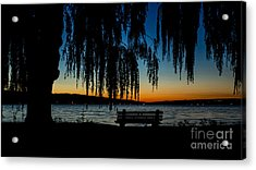 Summer Evening At Stewart Park Acrylic Print
