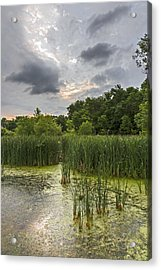 Summer Evening Clouds Acrylic Print by Edward Peterson