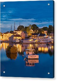 Summer Evening On Boothbay Harbor Acrylic Print