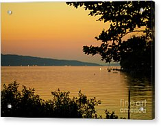 Summer Evening On Cayuga Lake Acrylic Print
