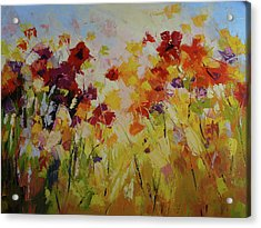 Summer Field Acrylic Print by Yvonne Ankerman
