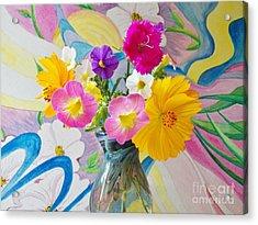 Summer Fiesta Island Acrylic Print by Judy Via-Wolff