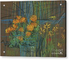 Acrylic Print featuring the painting Summer Flowers by Donald Maier