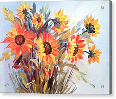Summer Flowers Acrylic Print by Dorothy Maier