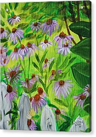 Summer Flowers In Peculiar Mo. Acrylic Print by Patricia Olson