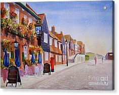 Summer Folkestone Harbour Uk Acrylic Print by Beatrice Cloake