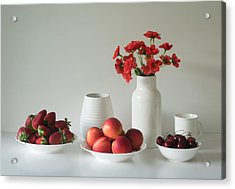 Summer Fruits Acrylic Print by Jacqueline Hammer