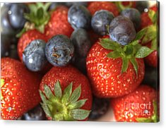 Summer Fruits Acrylic Print by Tracy  Hall