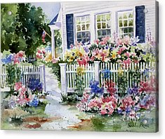 Summer Garden Acrylic Print by Bobbi Price