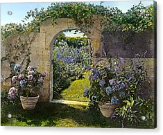 Summer Garden Acrylic Print by Terry Reynoldson
