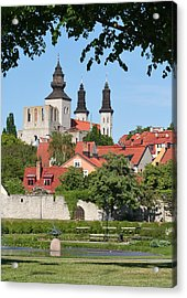 Summer Green Medieval Town Acrylic Print