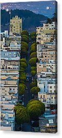 Summer Green On Lombard Street Acrylic Print by Scott Campbell