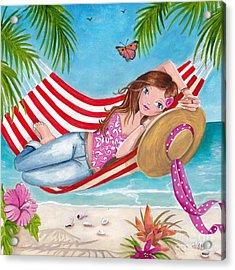 Summer Hammock Acrylic Print by Caroline Bonne-Muller