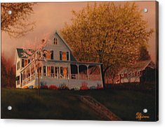 Acrylic Print featuring the painting Summer Home by Rick Fitzsimons