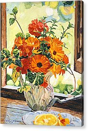Summer House Still Life Acrylic Print by David Lloyd Glover