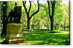 Summer In Central Park Manhattan Acrylic Print