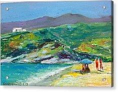 Summer In Greek Island Acrylic Print by George Siaba