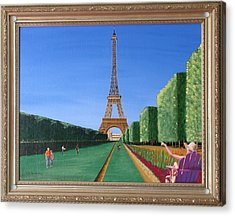 Acrylic Print featuring the painting Summer In Paris by Ron Davidson