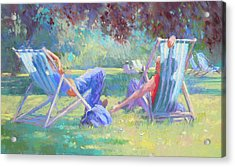 Summer In St James Park Acrylic Print by Jackie Simmonds