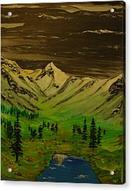 Summer In The Mountains Acrylic Print by Iam Wayne