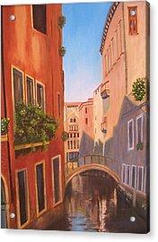Summer In Venice Acrylic Print by Edna Fenske