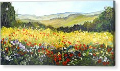 Summer Landscape Dream Acrylic Print by Dorothy Maier