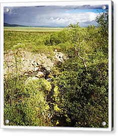 Summer Landscape In Iceland Acrylic Print