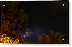 Acrylic Print featuring the photograph Summer Lightning Storm by Ramona Whiteaker