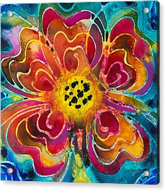 Colorful Flower Art - Summer Love By Sharon Cummings Acrylic Print by Sharon Cummings