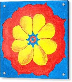 Summer Mandala Acrylic Print