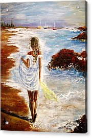 Acrylic Print featuring the painting Summer Memories by Cristina Mihailescu