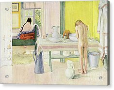 Summer Morning Pub In Lasst Licht Hinin Let In More Light Acrylic Print by Carl Larsson
