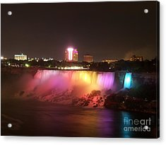 Summer Night In Niagara Falls Acrylic Print