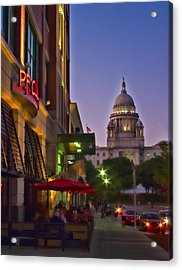Summer Night In Providence Acrylic Print